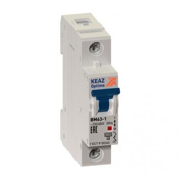 Выключатель автоматический однополюсный BM63-1L2-УХЛ3