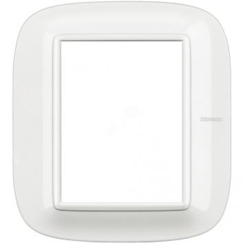 Axolute Накладки декоративные в форме эллипса White/белый на 3+3 модуля