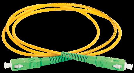 Шнур оптический коммутационный соединительный (патч-корд) для одномодового кабеля (SM) 9/125 (OS2) SC/APC-SC/APC одинарного исполнения (Simplex) LSZH 1м