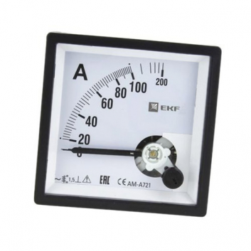 Амперметр AM-A961 аналоговый на панель 96х96(квадратный вырез) 200А трансформаторное подключение PROxima