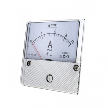 Амперметр AM-A801 аналоговый на панель 80х80 (круглый вырез) 10А прямое подключение