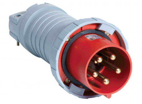 Вилка кабельная 4125P 7W 125А 3P +N+E IP 67 7ч